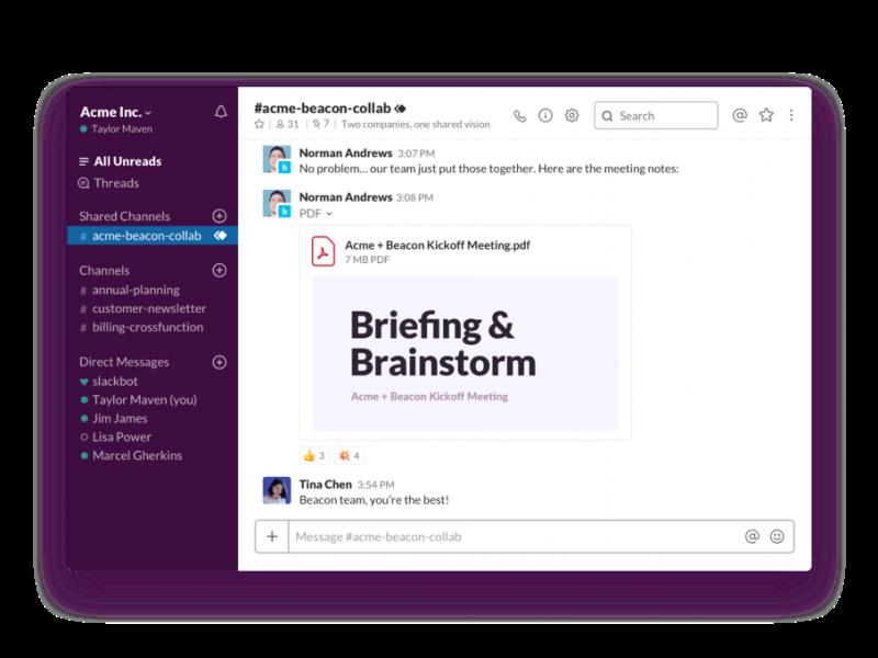Prochainement avec Slack : de nouveaux outils de rationalisation et de productivité